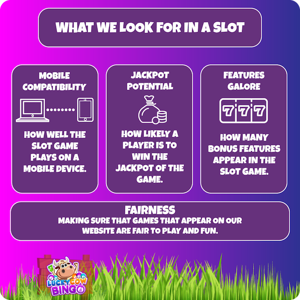 what we look for in online slot games